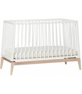 Leander Luna Babybett 60x120 cm - Weiss / Eiche