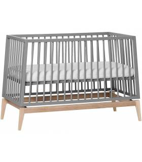 Leander Luna Babybett 60x120 cm - Grau / Eiche