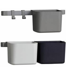Leander/Linea Organisationselemente 3 Stück, 2 kurze Schienen - Dusty Grey