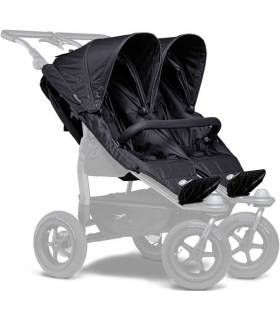 TFK DUO-Komfortsitz-Einhänge XXL für DUO-Kinderwagen schwarz (Doppelter Sportsitzeinhang)