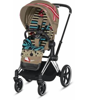 Cybex e-Priam Elektro-Kinderwagen - One Love by Karolina Kurkova