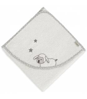 Sterntaler Kapuzenbadetuch 100x100 - Schaf Stanley