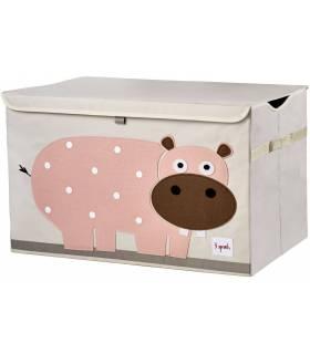 3 Sprouts Spielzeugbox - Nilpferd