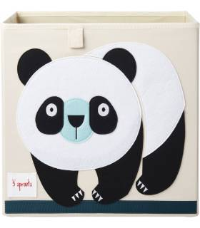 3 Sprouts Spielzeugbox Panda