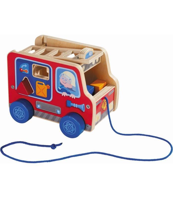Haba Ziehfigur - Feuerwehrauto