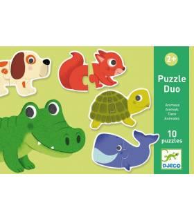Djeco Puzzle Duo - Tiere