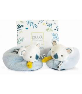 Doudou Füsslinge Koala mit Rassel 0-6 Monate