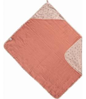 Zewi Bébé-Jou Muslin Badetuch mit Kaputze Wish Pink