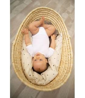Zewi Bébé-Jou BEZUG (Baby- Lagerungskissen gerade) 125cm Classic Hearts
