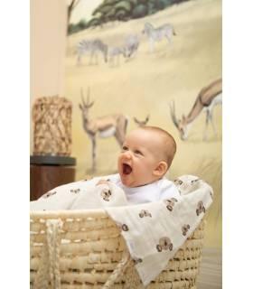 Zewi Bébé-Jou Baby Gaze GROSS Motiv Bedruckt 120x120 (Nuscheli) Classic Hearts