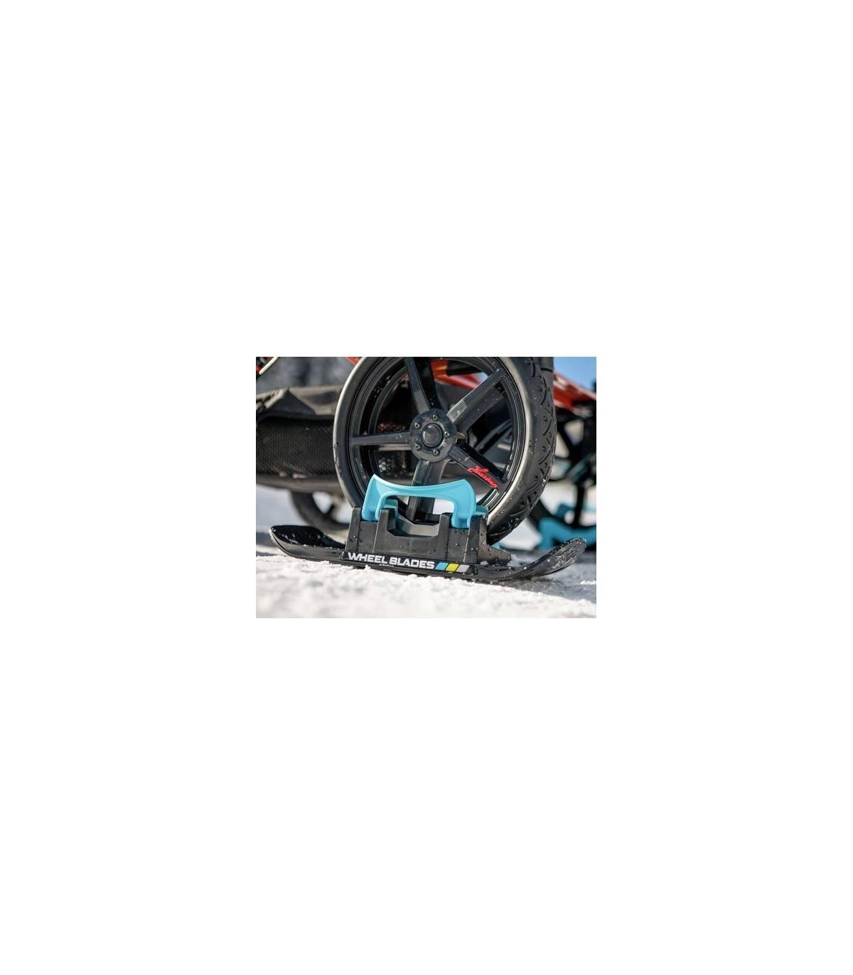 Wheelblades XL Kinderwagenski (KIWASKI) 2 Stück Schwarz