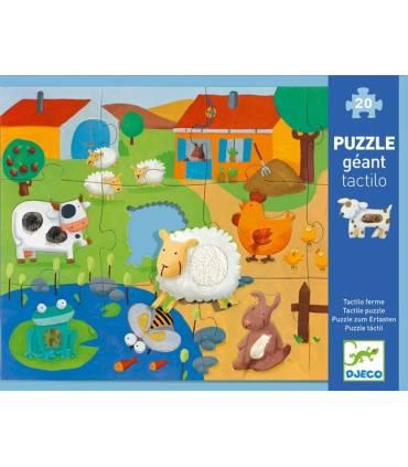 Djeco Puzzle Zum Ertasten Tactiloferme