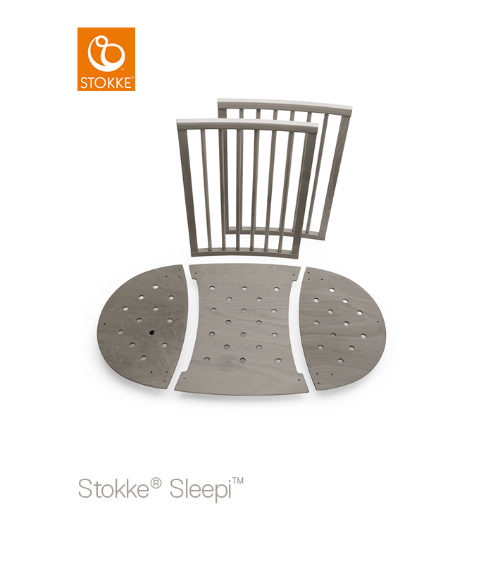 Stokke Sleepi Erweiterungs-Kit (Mini-zu-Normalbett) Hazy Grey - HW Baby Center