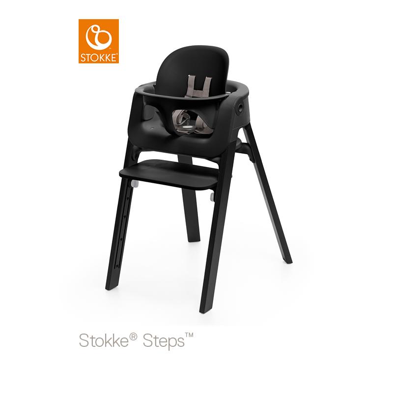 stokke steps baby set black hw baby center. Black Bedroom Furniture Sets. Home Design Ideas