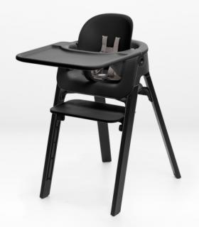 Stokke Steps Tablett für Baby Set Schwarz (Tray/Tisch)
