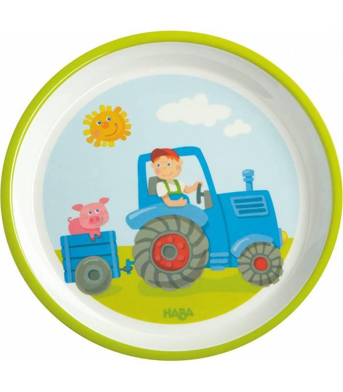 Haba Melamin-Teller Traktor 18cm