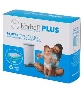 Korbell Nachfüllfolie PLUS 26 Liter Plus (Für Windeleimer Plus)