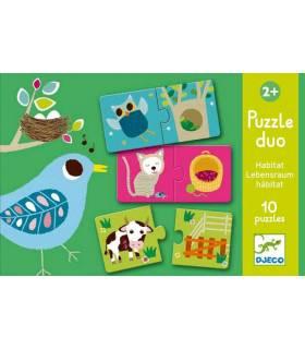 Djeco Puzzle Duo Lebensraum