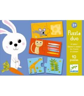 Djeco Puzzle Duo Zu Tisch
