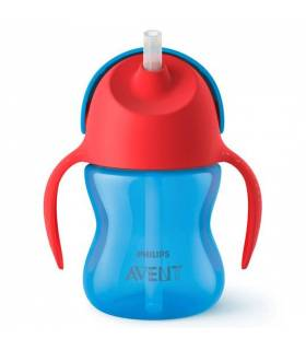 Avent Strohhalm-Becher 200ml Blau/Boy