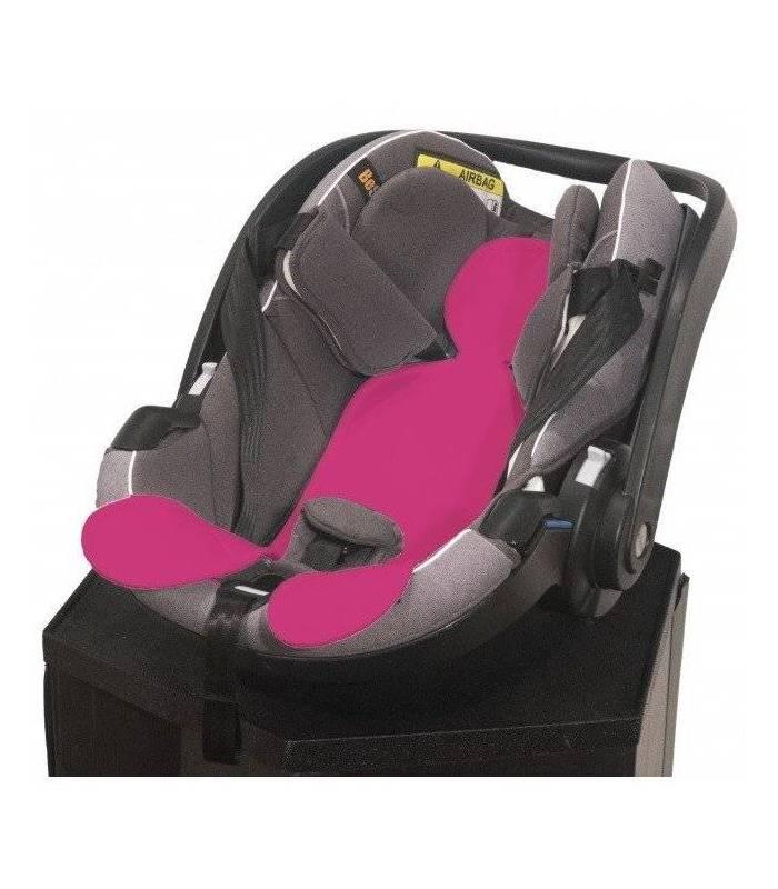 Kuli Muli Autositzauflage für Baby-Schalen (Gruppe 0+) Fuchsia