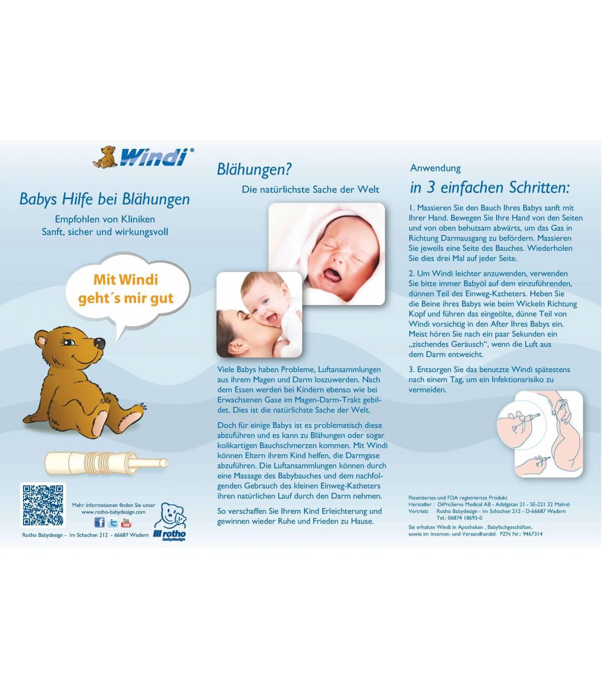 Rotho Windi (Hilfe Gegen Babys Blähungen) 5er Pack