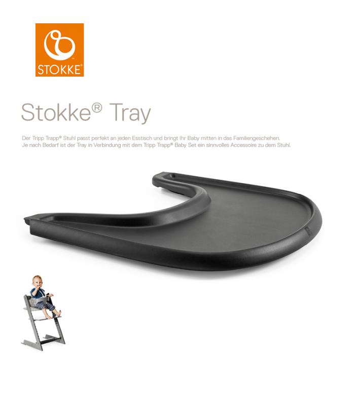 Stokke Tray Schwarz (Tisch für Tripp Trapp)