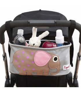 3 Sprouts Stossertasche Elefant (Für Kinderwagen & Buggys)