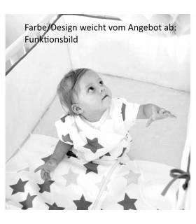 Zewi Bébé-Jou Fix-Schlafsack (Flanell-Innenfutter) White Stars & Points