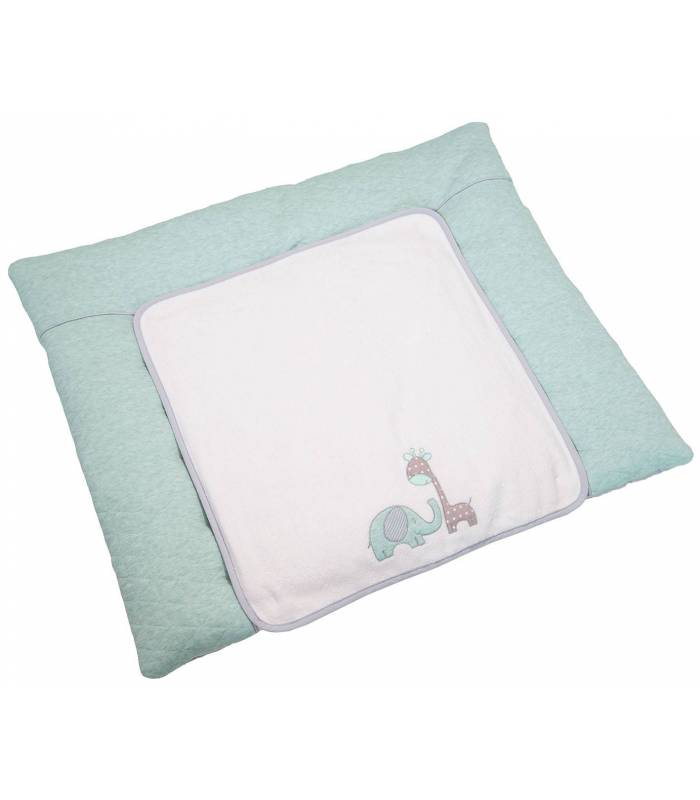 BeBe's Collection Wickelauflage Gross Max & Mila Mint (Wickelkissen & Bezug 85x75cm)