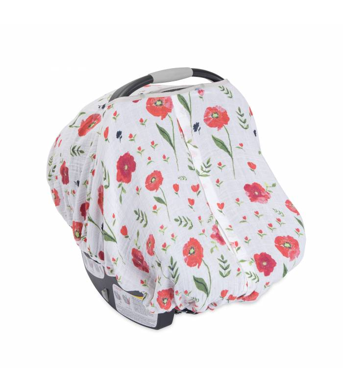 Little Unicorn Car Seat Canopy - Summer Poppy