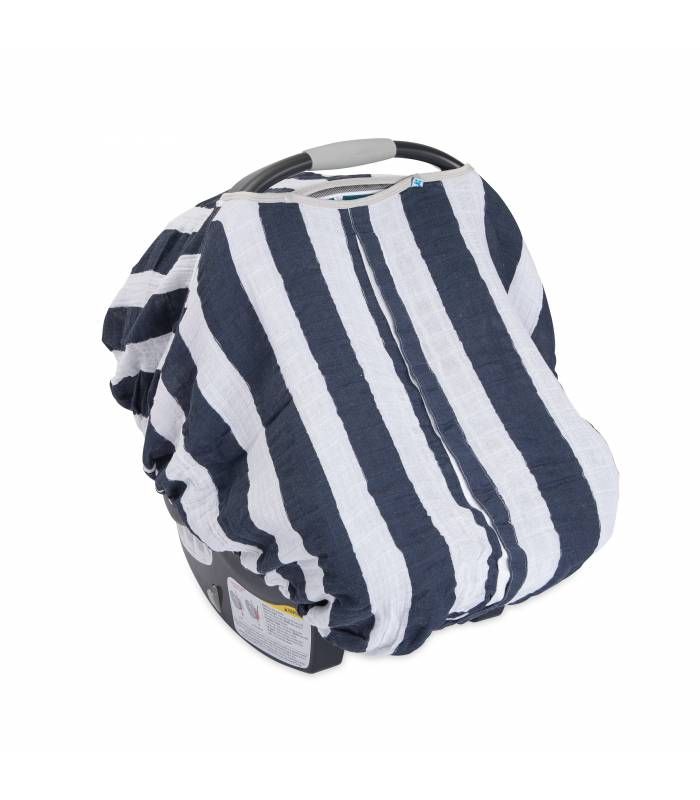 Little Unicorn Car Seat Canopy - Navy Stripe