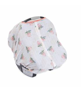 Little Unicorn Car Seat Canopy - Watercolor Rose