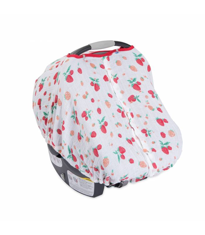 Little Unicorn Car Seat Canopy - Strawberry