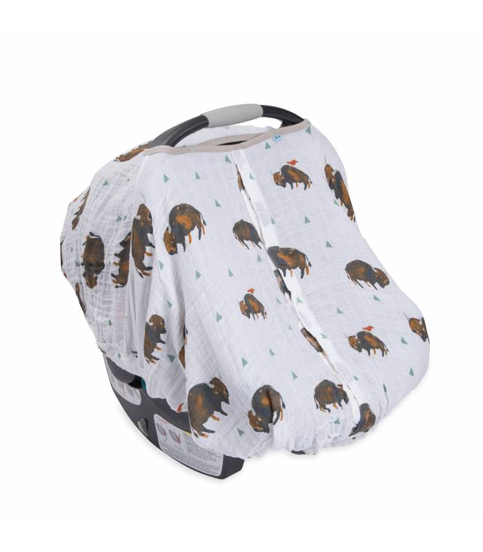 Little Unicorn Car Seat Canopy - Bison