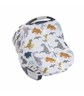 Little Unicorn Car Seat Canopy - Dino Friends