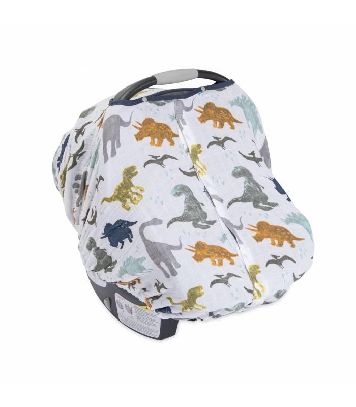 Little Unicorn Car Seat Canopy - Dino Friends