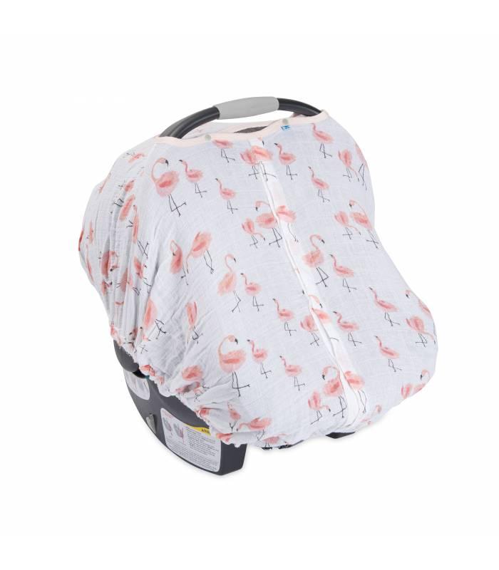Little Unicorn Car Seat Canopy - Pink Ladies