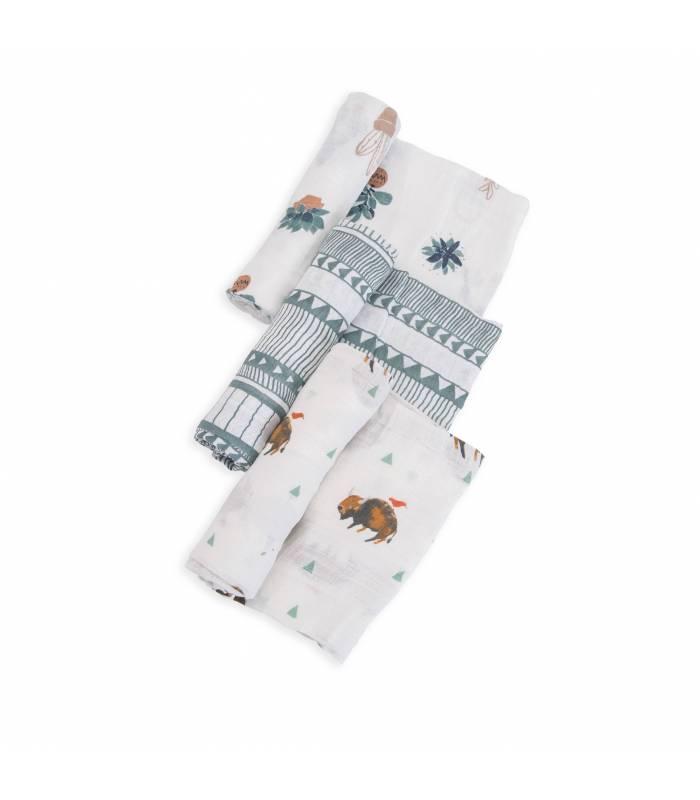 Little Unicorn Mullwindeln 120x120 (Nuscheli) 3er Pack - Bison