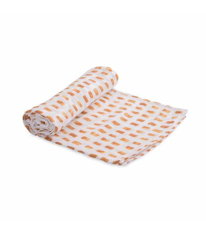 Little Unicorn Mullwindeln 120x120 (Nuscheli) Einzel Pack - Tangerine Tiles