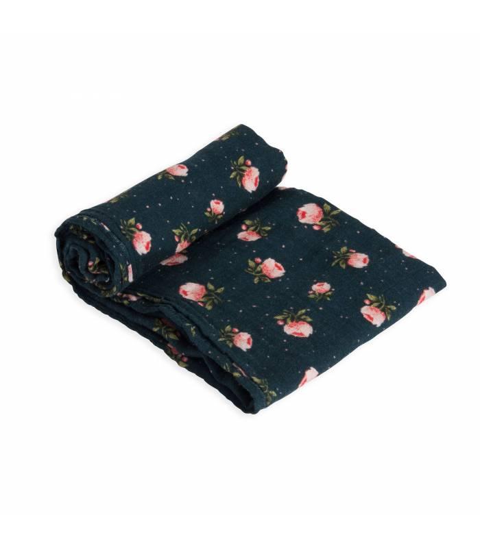 Little Unicorn Mullwindeln 120x120 (Nuscheli) Einzel Pack - Midnight Rose