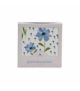 Little Unicorn Bambusdecke - Blue Windflower