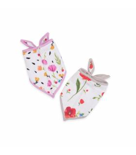 Little Unicorn Bandana Baumwolllätzchen 2er Pack - Summer Poppy