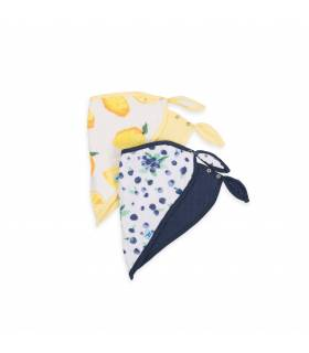 Little Unicorn Bandana Baumwolllätzchen 2er Pack - Berry Lemonade