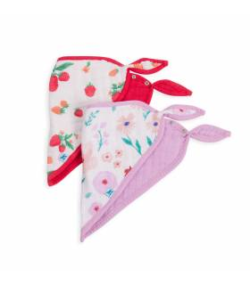 Little Unicorn Bandana Baumwolllätzchen 2er Pack - Morning Glory