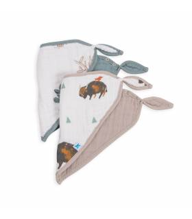 Little Unicorn Bandana Baumwolllätzchen 2er Pack - Bison