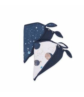 Little Unicorn Bandana Baumwolllätzchen 2er Pack - Planetary