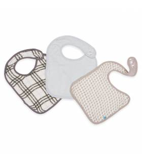 Little Unicorn Deluxe Bambuslätzchen 3er Pack - Houndstooth