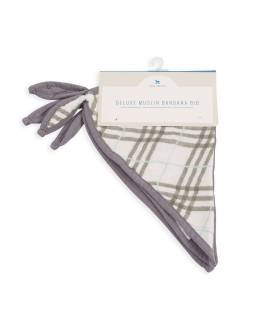 Little Unicorn Deluxe Bandana Bambuslätzchen 2er Pack - Pendleton Plaid