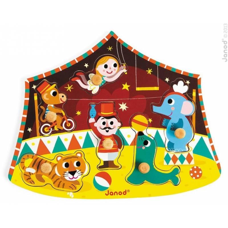 janod puzzle sternen zirkus mit 6